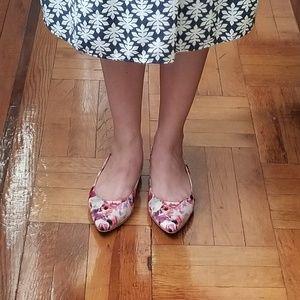 Tesori Shoes - Tesori Floral Slingback Flats